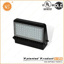 UL Dlc Listado IP65 Outdoor 150W LED Wall Pack Lâmpada