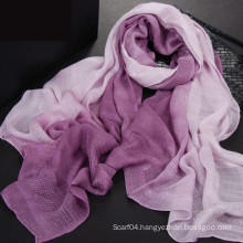 New design tie dye walf checks scarf 2016