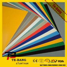 famous good quality color painted aluminum roofing sheet price color painted aluminum sheet