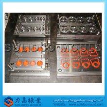 Plastic bottle cap mould with security ring