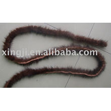 Tuyau en fourrure de vison pour la coupe des vêtements