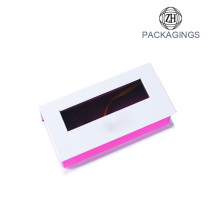 Custom eyelash box pvc window pink box