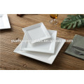 Cheap competitive white porcelain square and rectangular plate set