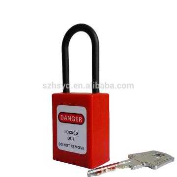 Impacto Resistente, UV, corrosão, calor ABS plástico profissional cravado ao mestre e semelhante cadeado de segurança longo shackle