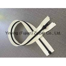Yyc 5 # длинный открытый конец пластиковая молния для спортивной одежды