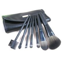 7pcs kit de cosméticos de viagem conjunto de escova de maquiagem com chapa de metal no estojo