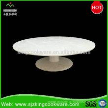 Täglich benutzter weißer Kuchen-Standplatz Chinas traditionelles Design, feine Steinfrucht-Kuchen-Platte