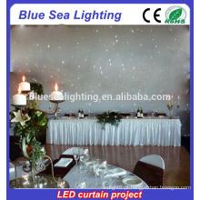 Equipamento de palco Decoração do casamento luzes cortina LED