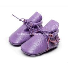 Europa Leder Fransen Baby Schuhe 04