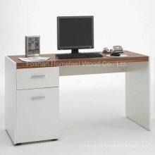 Bureau élégant d'ordinateur cible blanc (HF-D005)