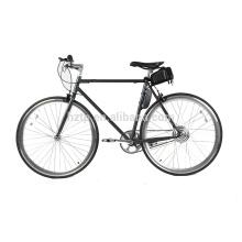 700C jantes profundos design simples portátil única velocidade fixo engrenagem bicicleta de estrada elétrica