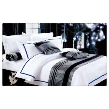 200-400T Ägyptische Baumwolle reine weiße Hotel Bettwäsche