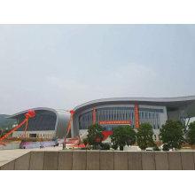Q345b Light Curved Stahl Binder Roofing System Design