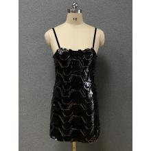 women's black simple dress