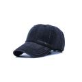Design Your Distress Washed Black Baseball Caps