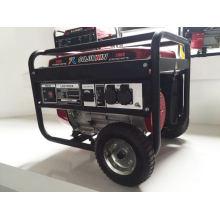 Gerador de gasolina com 100% fio de cobre, com rodas e alça, de alta qualidade, mas preço competitivo