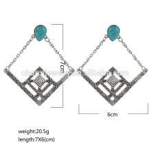 Boucles d'oreille en diamant turquoise diamant pour la femme de haute qualité de dernière qualité pour femme SSEH012