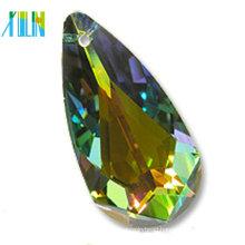 wholesale high quality teardrop shape crystal with hole