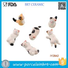 Милые маленькие кошки в различных формах керамические палочки для еды отдых