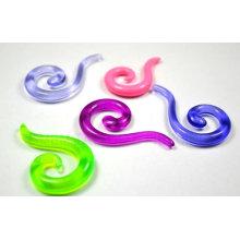 UV Acrylique Stretch Spiral oreille Expander piercing bijoux oreille plug tunnels de l'oreille