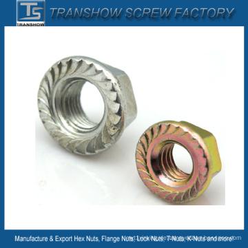 DIN6923 Carbon Stahl Flansch Hex Nut