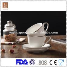 Copos de café espresso em cerâmica branca de 200ml para café