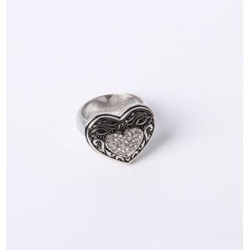 Hear Design Fashion Jewelry Ring avec strass