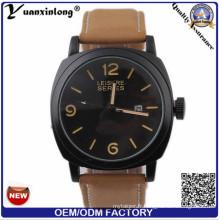 YXL-692 Fashion cuir bracelet horloges Japon mouvement Curren Watch pour hommes