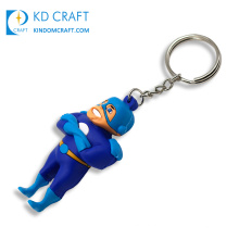 Pretty decorative custom rubber soft pvc lovely 3D cartoon character toy keychain for kids