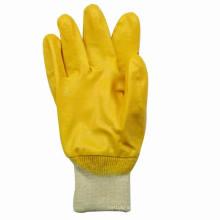 Luva de algodão amarelo Nitrile algodão