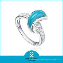 Modische Semi-Precious hochwertige Schmuck Türkis Ringe (R-0303)