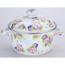 enamel pan with cast iron soup or cooking pot set for enamel pot or casserole cookware