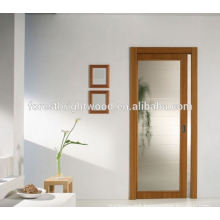 Wood Interior sliding Frosted Glass Pocket Doors