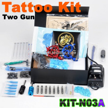 Neue billige komplette professionelle Tattoo Maschine Kit mit 2 Pistole