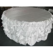 Hochzeit Tischdecken, handgefertigte Tischdecken, satin gekräuselten Tischdecke