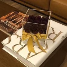 Boîte à fleurs de première main avec du matériel acrylique transparent