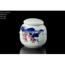 Peinture au raisin Boite de thé en céramique pour thé Matcha ou lâche 30g