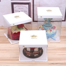 Plastic white cake box