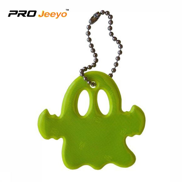 Rreflective Pvc Ghost Shape Pendant V 210 1 Yellow