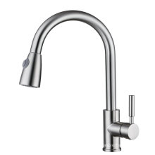 Pull out Brass Kitchen Sink Faucet and Mixer