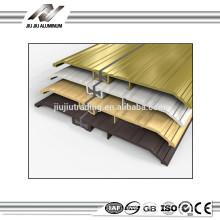 cor de madeira acabamento de alumínio para bar limiar da porta