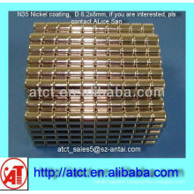 D8.2x8 Nickel coating magnet producers