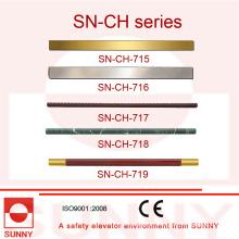 Aufzug Kabine Handlauf mit verschiedenen Art von Form (SN-CH-715)