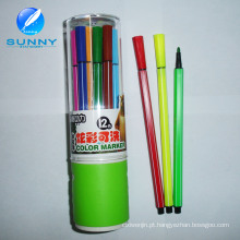 Pena de ponta personalizada de feltro da pena de marcador da cor de água a multi para a promoção