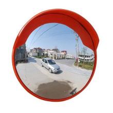 Indoor and Outdoor Unbreakable Orange Traffic Acrylic Convex Mirror