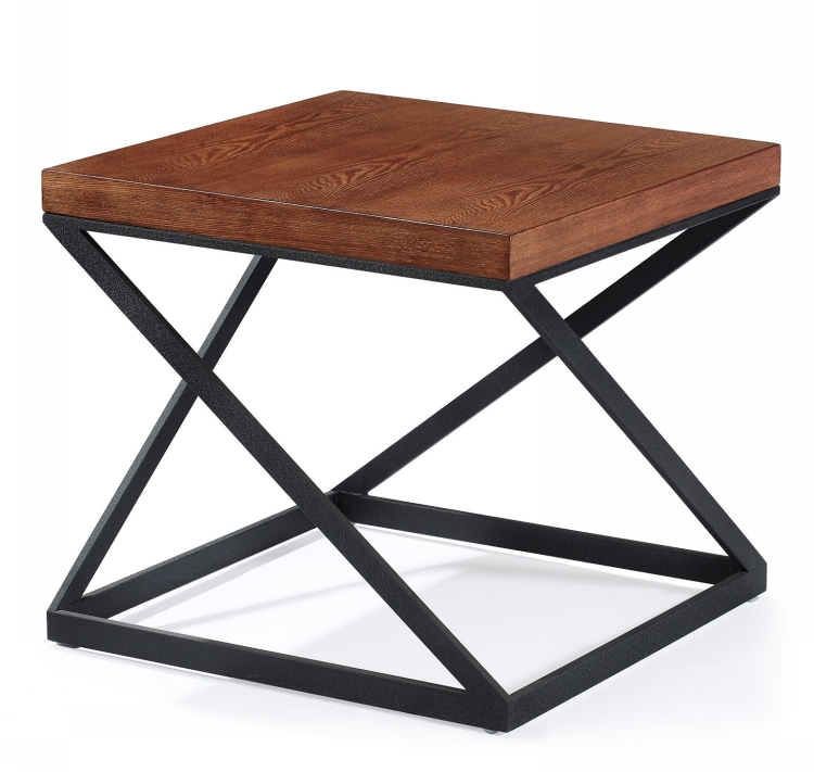 Modern Metal Leg Square Restaurant Coffee Woodtop Tables