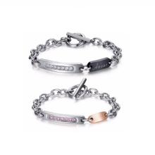 Aço inoxidável personalizado fazer seus próprios nomes de pulseiras