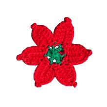 Мода ручной крючком цветок аппликации Motif аксессуары Украшения