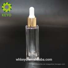 30 ml Quadrat ätherisches Öl Glas Tropfflasche kosmetische Verpackung Stiftung Lotion Glasflasche