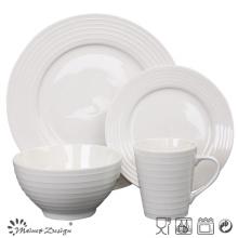 Porcelain Ceramic Embossed Dinner Set
